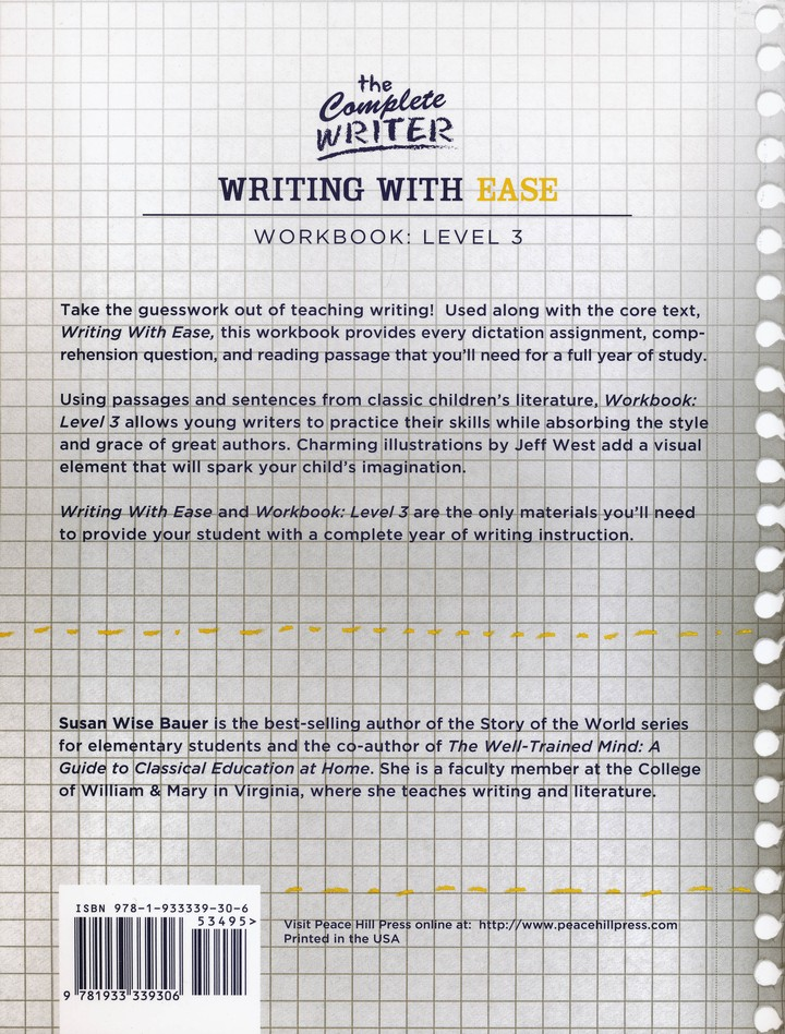 Writing with Ease Level 3 Workbook