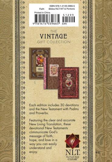 NLT, Vintage Gift Collection: Faith Devotional New Testament Proverbs: Faith