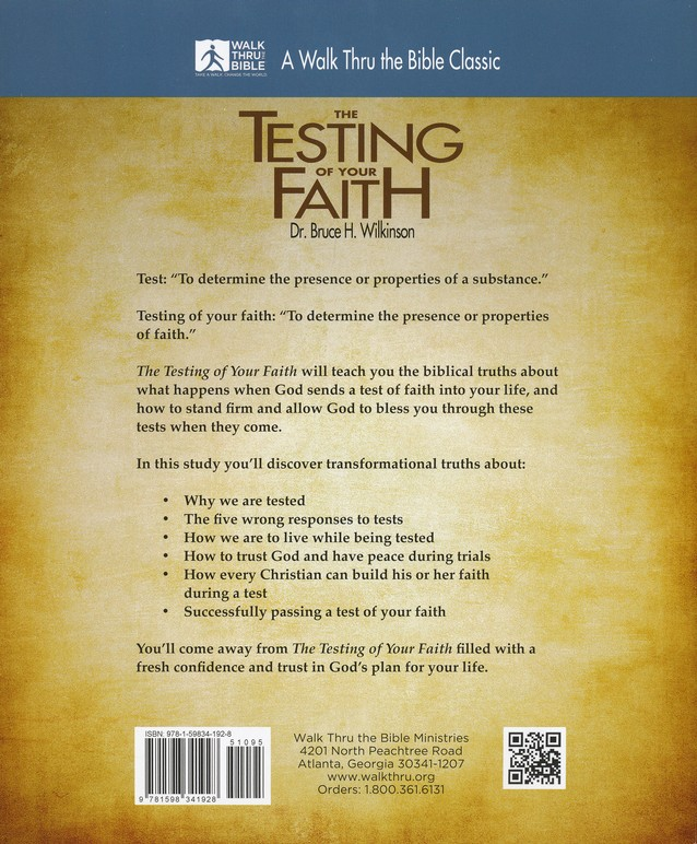 The Testing Of Your Faith Workbook