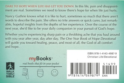 The One Year Book of Hope Devotional: Daily Readings to Give You Hope When Life Has Let You Down (myBooks)
