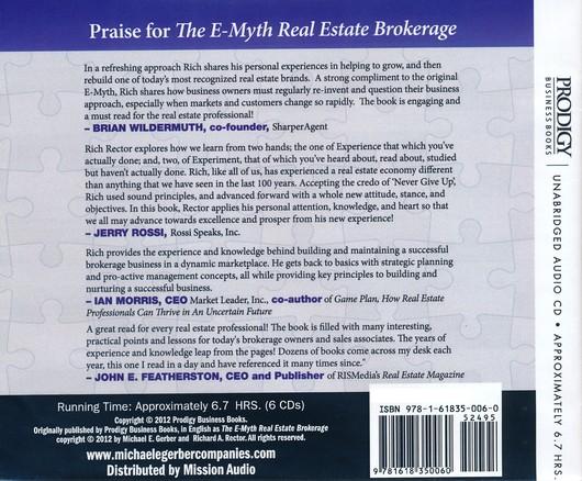 The E-Myth Real Estate Brokerage Unabridged Audiobook on CD