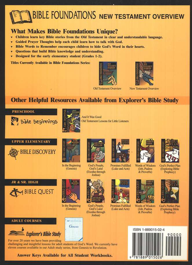 Bible Foundations: New Testament Overview, Student Workbook