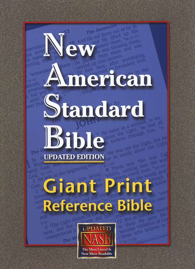 NASB Giant Print Reference Bible, Genuine Leather, black