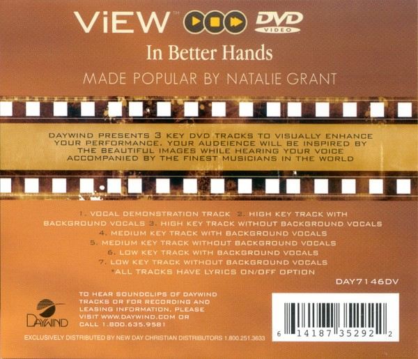 In Better Hands, Accompaniment DVD