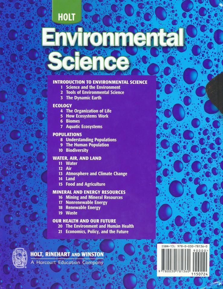 Holt Environmental Science Homeschool Package