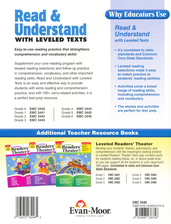 Read & Understand with Leveled Texts, Grades 6 and Up