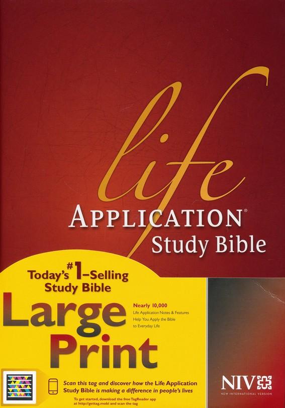 NIV Life Application Study Bible NIV Large Print, Hardcover