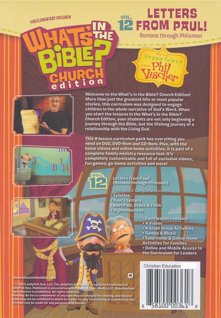 What's in the Bible? #12: Letters from Paul! - Church  Edition, DVD