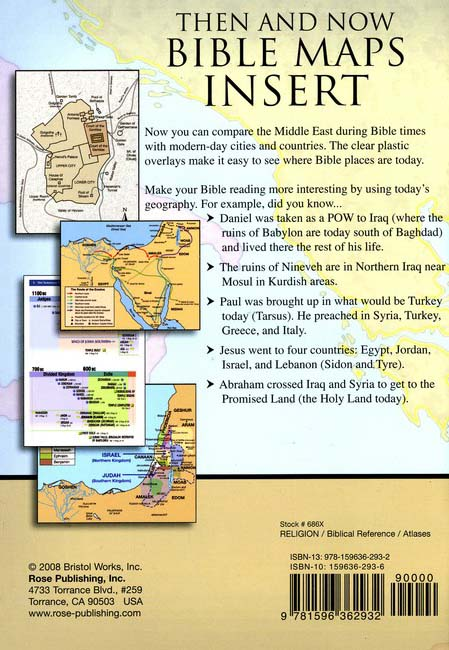 Then and Now Bible Maps Insert: 9781596362932 - Christianbook.com