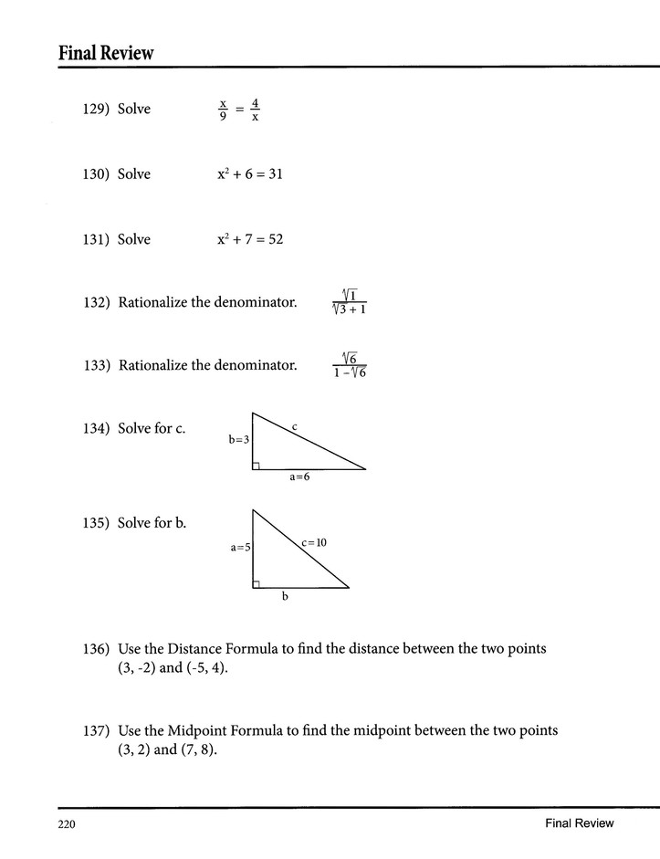 Part of the Mastering Essential Math Skills Series No-Nonsense Algebra 2nd Edition