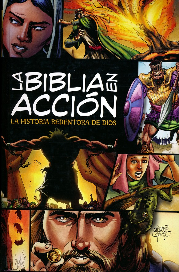 La Biblia en Acción, Enc. Dura  (The Action Bible, Hardcover)