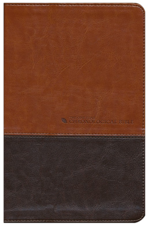 The NLT One Year Chronological Bible, TuTone Brown/Tan Leatherlike
