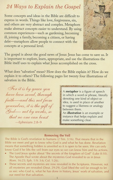 24 Ways to Explain the Gospel, Pamphlet