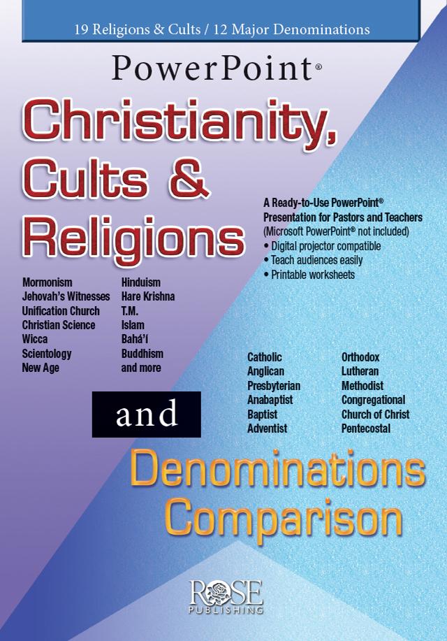 Christianity Cults Religionsdenominations Comparison 2 In 1