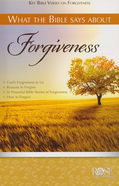 What the Bible Says about Forgiveness Pamphlet