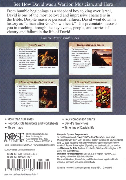 Life of David: PowerPoint CD-ROM