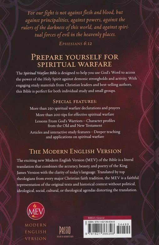 MEV (Modern English Version) The Spiritual Warfare Bible Hardcover