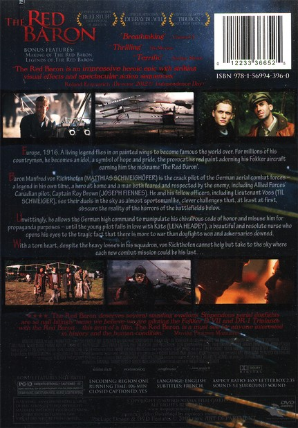 The Red Baron, DVD