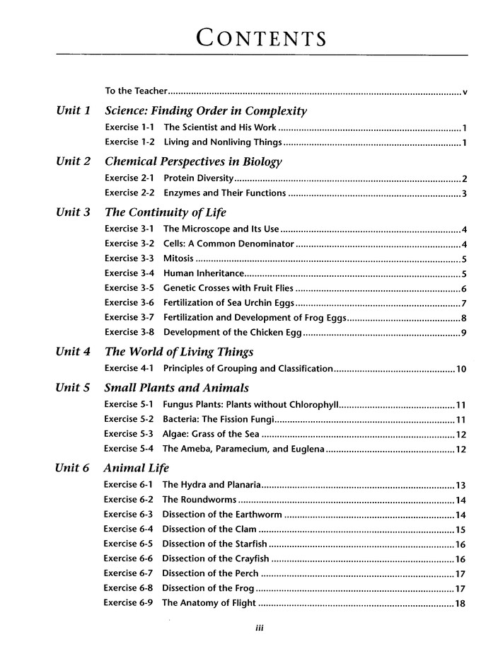 Biology: A Search for Order in Complexity Student Lab Teacher's  Guide, Grades 10-12