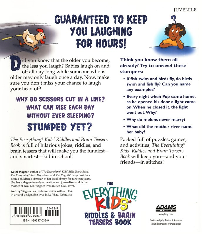 The Everything Kids Riddles Brain Teasers Book Kathi Wagner Aubrey 9781593370367
