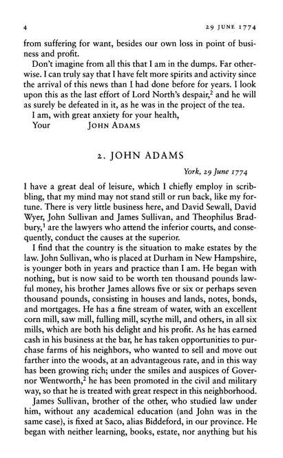 Letters Of John And Abigail Adams
