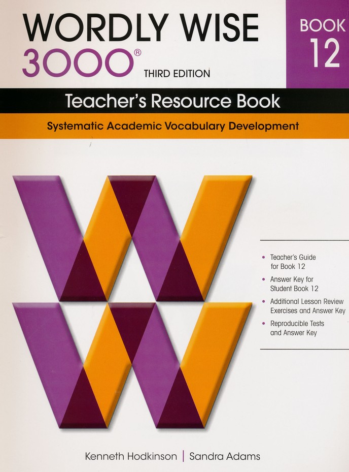 Wordly Wise 3000 Teacher's Resource Book 12, 3rd Ed