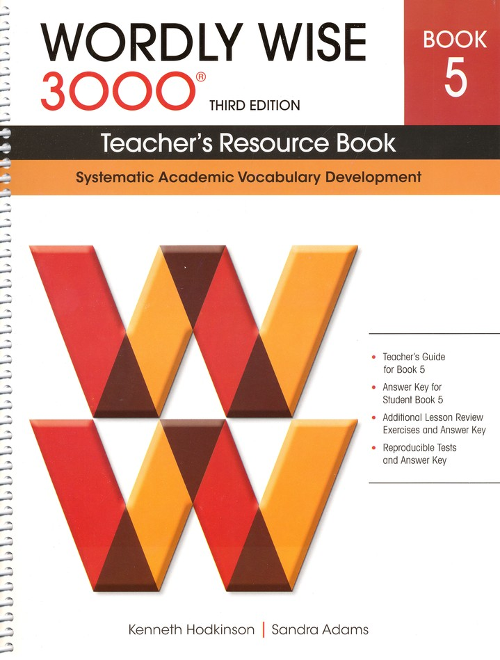 Wordly Wise 3000 Teacher's Resource Book 5, 3rd Edition
