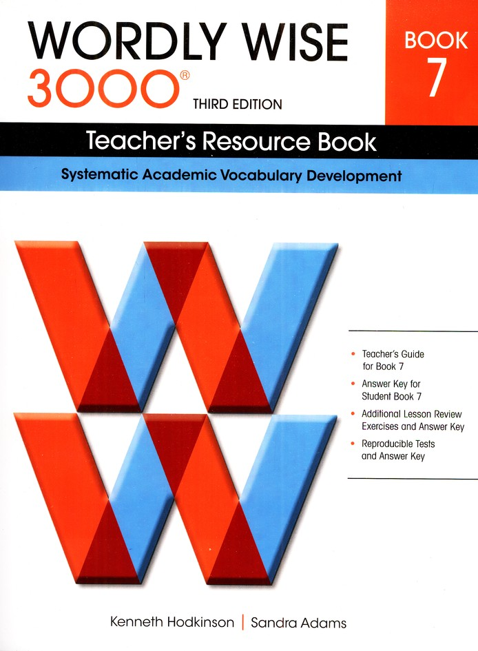 Wordly Wise 3000 Teacher's Resource Book 7, 3rd Edition