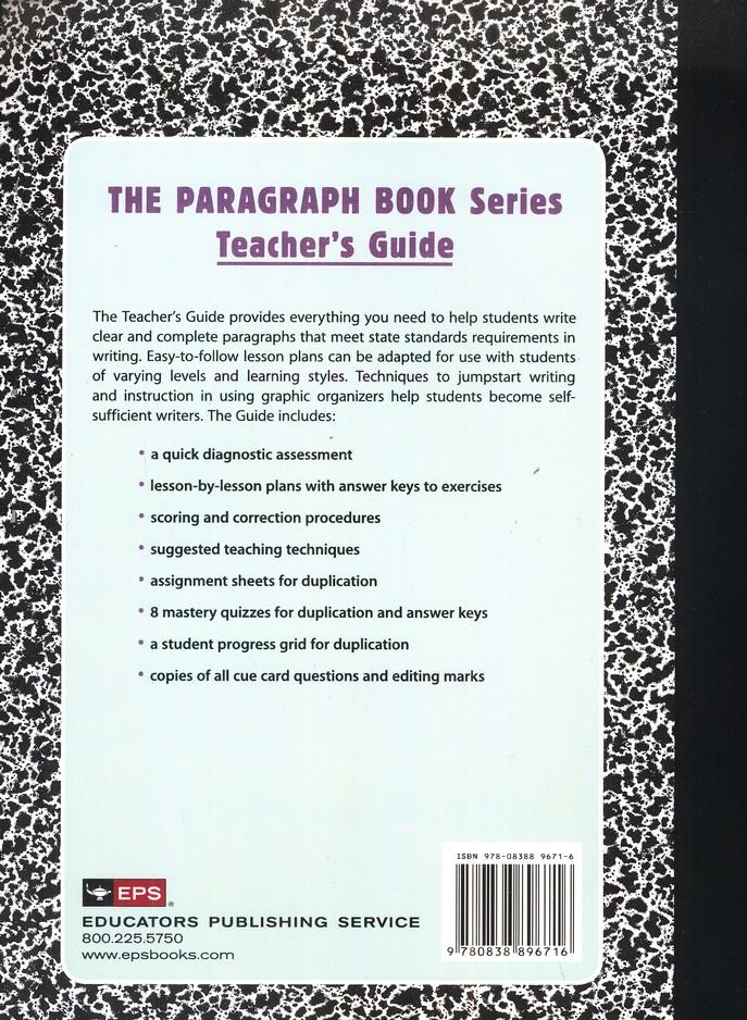 The Paragraph Book 1, Teacher's Guide