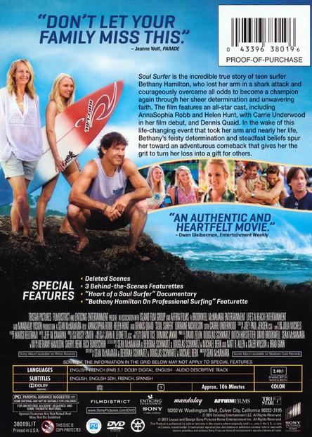 Soul Surfer Dvd Christianbook Com
