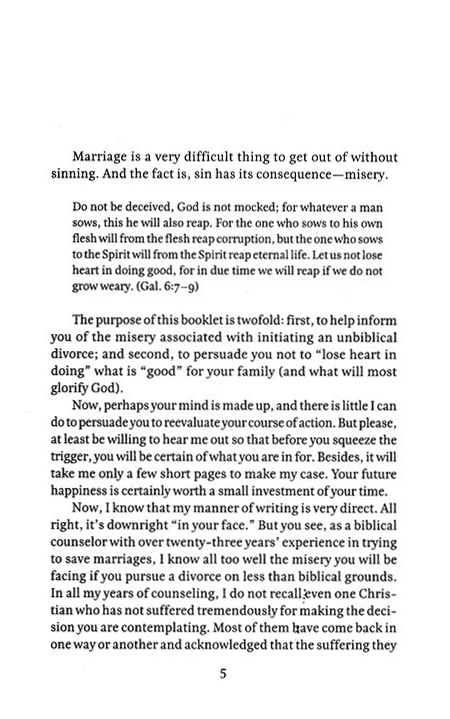 Divorce: Before You Say I Don't