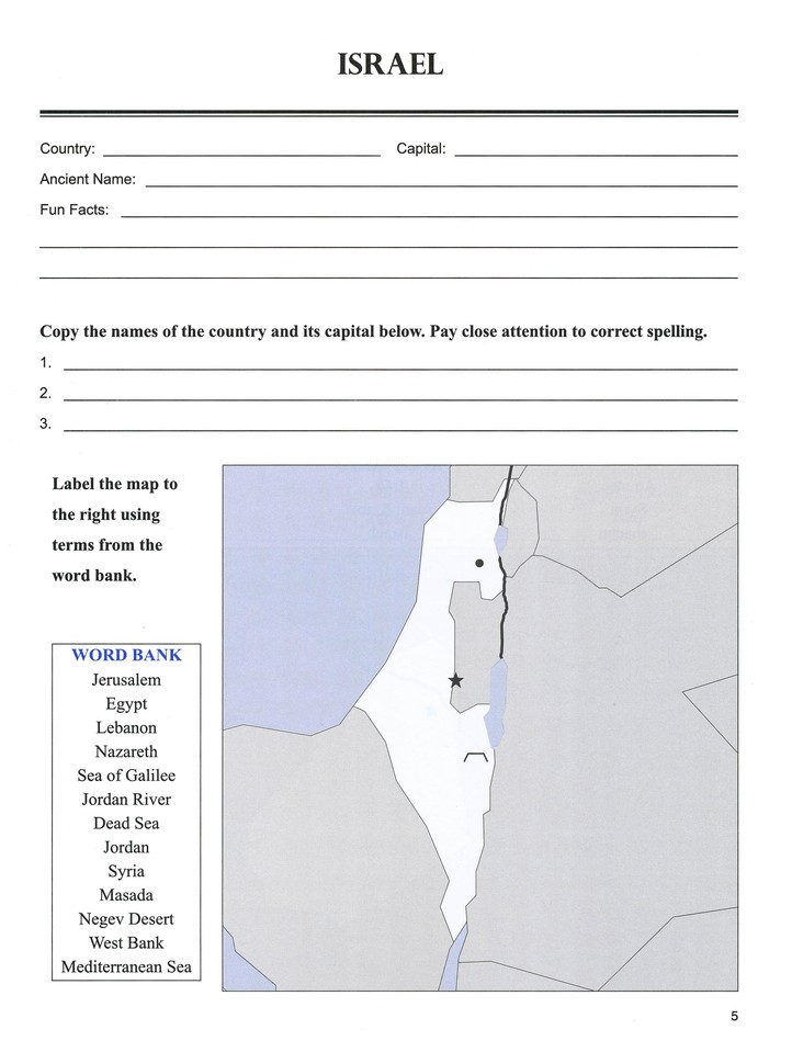 Geography 1, Workbook (Middle East, Europe, & North Africa)