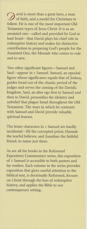 1 Samuel: Reformed Expository Commentary