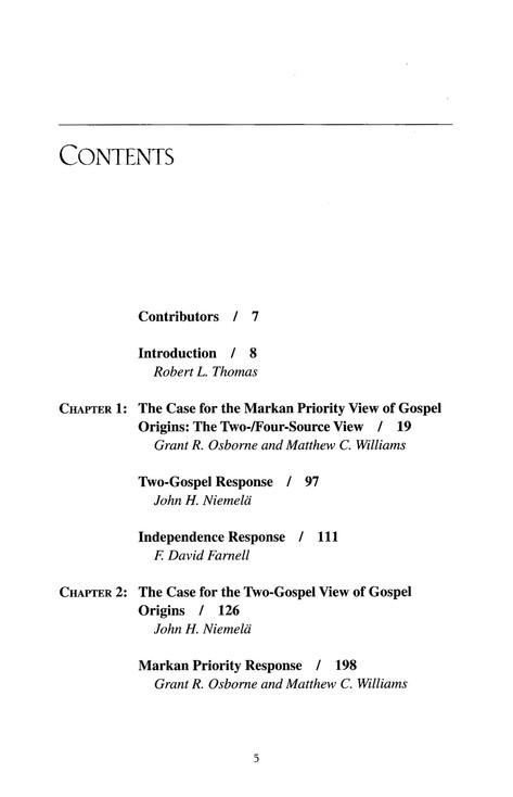 Three Views On The Origins of the Synoptic Gospels