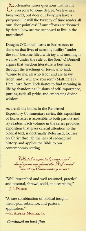 Ecclesiastes: Reformed Expository Commentary [REC]