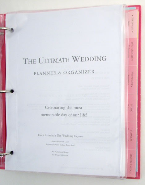 The Ultimate Wedding Planner Organizer Here Are Some Pictures