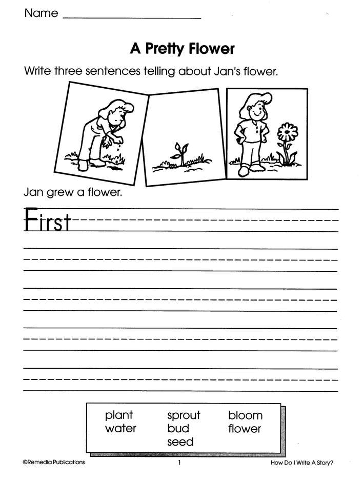 First Steps in Writing: How do I Write a Story? Grades 1-2