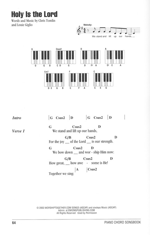 Praise Worship Piano Chord Songbook 9781423475545