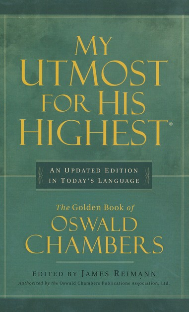 My Utmost for His Highest - updated in Today's Language  (Executive edition), imitation leather burgundy