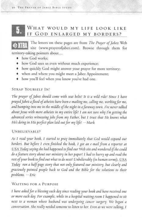 The Prayer of Jabez Bible Study