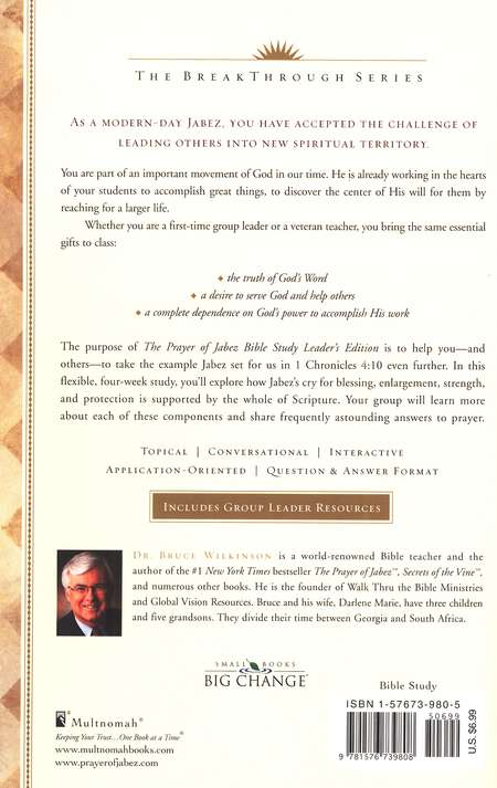 The Prayer of Jabez Bible Study, Leader's Edition