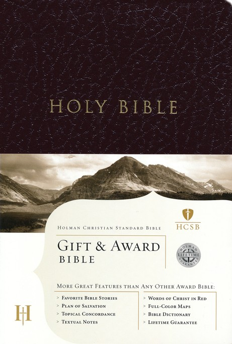 Holman Christian Standard Gift & Award Bible, Imitation leather, burgundy