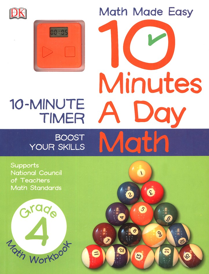10 minutes a day math grade 4 9781465402295 christianbook com