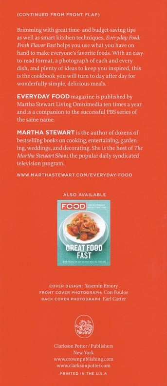 everyday food fresh flavor fast 250 easy delicious recipes