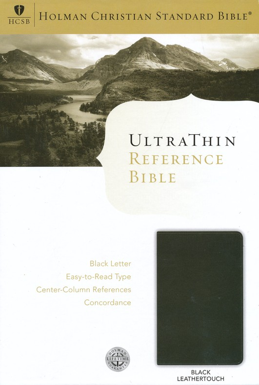 HCSB UltraThin Reference Bible (Black Letter Edition) Black Imitation Leather