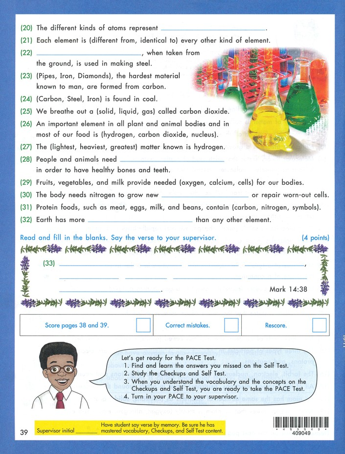 Grade 5 Science PACE 1049 (4th Edition)