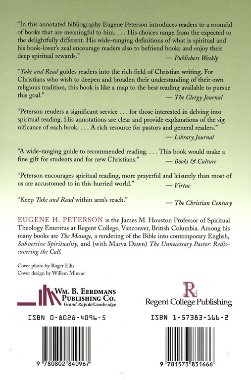 Take Read Spiritual Reading An Annotated List Eugene H