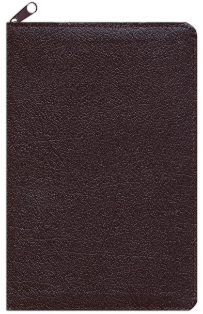 NIV Thinline Zippered Collection Bible, Compact, Bonded Leather, Burgundy