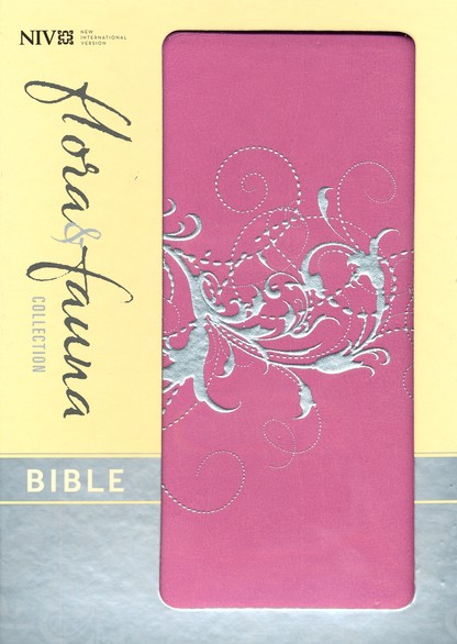 NIV Flora and Fauna Collection Bible, Compact, Italian Duo-Tone, Orchid/Silver Swirls