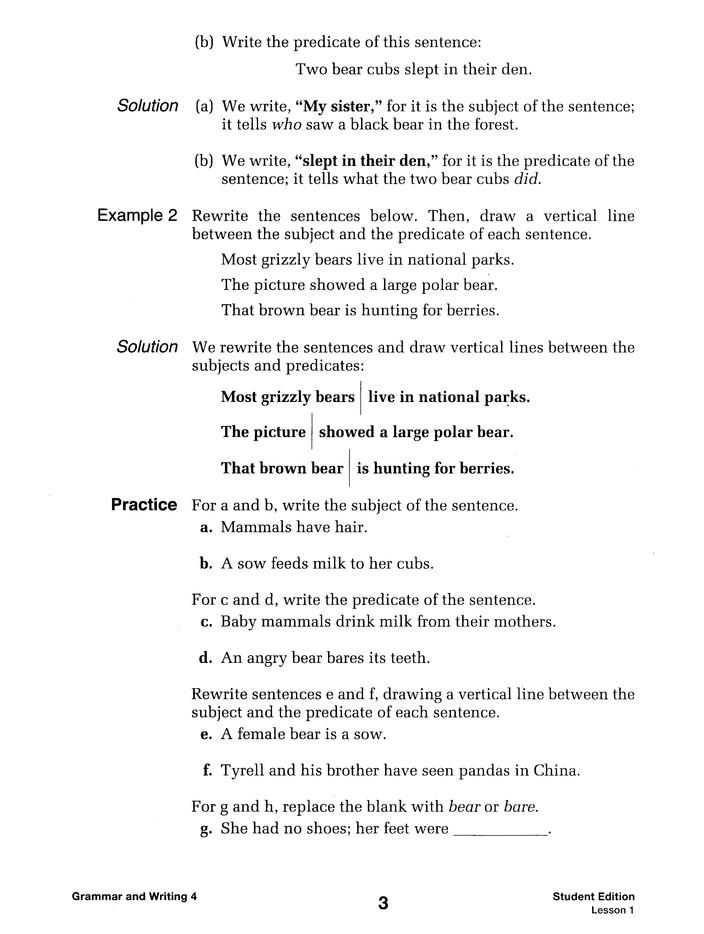 Saxon Grammar Writing Grade 4 Kit 1st Edition